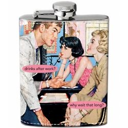 Why Wait Hip Flask