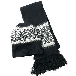 Wool Hat and Scarf Set