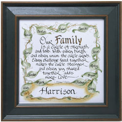Personalized Our Family Framed Matted Print