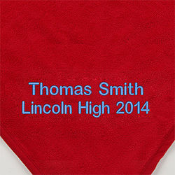 Personalized Red Fleece Graduation Throw Blanket