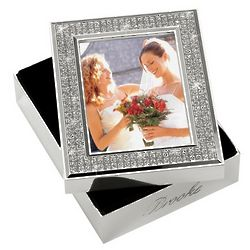 Personalized Glitter Galore Wedding Photo Memory Box