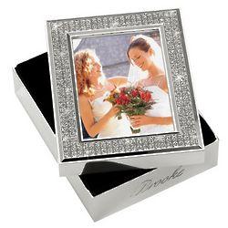 Personalized Glitter Galore Wedding Photo Memory Box