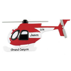 Sightseeing Helicopter Personalized Christmas Ornament