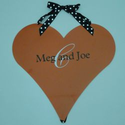 Personalized Heart Magnetic Memo Board