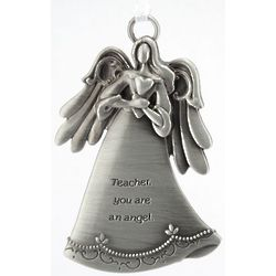 Teacher Angel Personalized Pewter Ornament