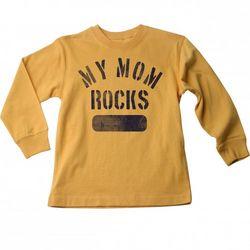 Big Boys My Mom Rocks Long Sleeve TShirt