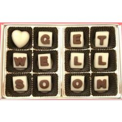 Get Well Soon Alphabet Marble Chocolate Gift
