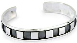 Men's Symmetrical Elegance Sterling Silver Cuff Bracelet