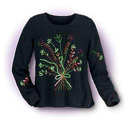 Bouquet of Shamrocks Sweater