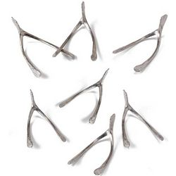 Handmade Pewter Wishbones