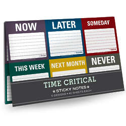 Time Critical Sticky Note Packet