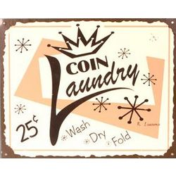 Coin Laundry Metal Sign