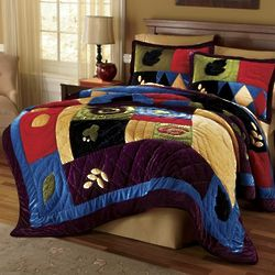 Velvet Splendor Colorful Twin Quilt