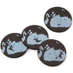 Whimsical Memories Recycled Tire Coasters