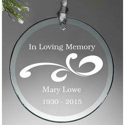 Lovely Memories Personalized Memorial Ornament