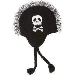 Skull & Crossbones Mohawk Knit Hat