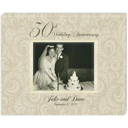 50th Golden Anniversary Personalized Photo Canvas
