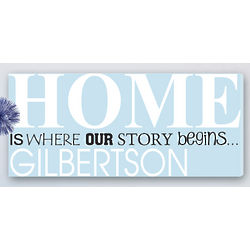 Personalized Home Is Where Our Story Begins Family Art Canvas