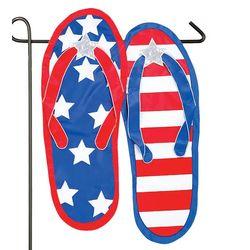 All American Flip Flops Garden Flag