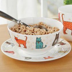 Colorful Cat Bowl