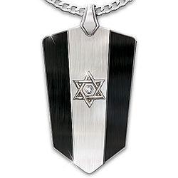 Men's Personalized Star of David Diamond Pendant