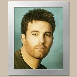 Ben Affleck Oil Painting Giclee