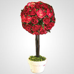 Papier-mache Rose Tree