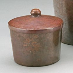 Roycroft Small Round Copper Box