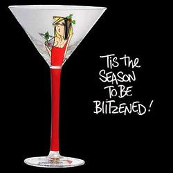 Tis The Season To Be Blitzened Martini Glass