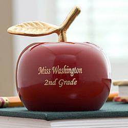 Personalized Apple Brass Teacher Bell