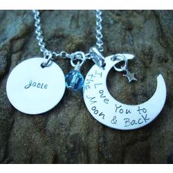 I Love You to the Moon & Back Personalized Necklace