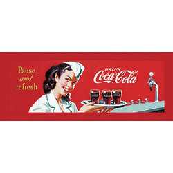 "Vintage ""Pause and Refresh"" Coca-Cola Gallery-Wrapped Art Print"