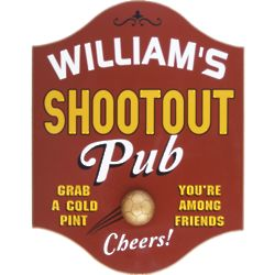 Shootout Personalized Basketball Pub Sign