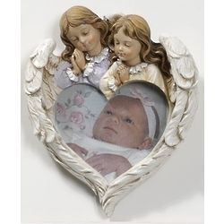 Angels Praying Over Child Picture Frame