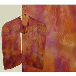 Sangria Leaf Silk Scarf
