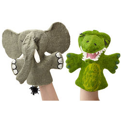 Felt Elephant or Crocodile Puppet