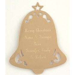 Personalized Golden Bell Ornament
