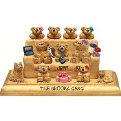 Personalized Family Chair for Dad and His Gang of Bears