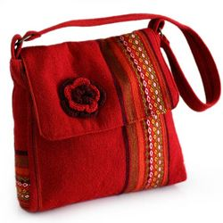 Apple Blossom Alpaca Shoulder Bag