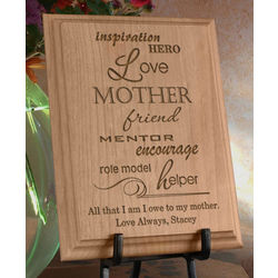 Personalized A Mother Is Wooden Plaque