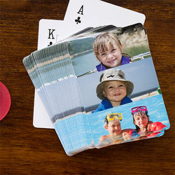 Personalized Three Photo Playing Cards