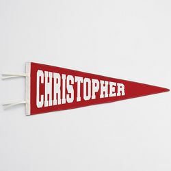 Old-School Personalized Red Pennant
