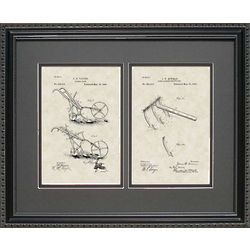 Garden Plow and Cultivator Framed Patent 16x20 Art Print