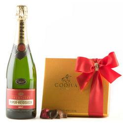 Champagne and Godiva Chocolate Gift Set