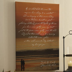 What is Love Personalized Sunset Canvas Print