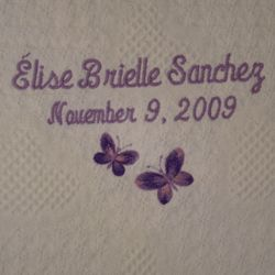 Butterflies Personalized Baby Blanket