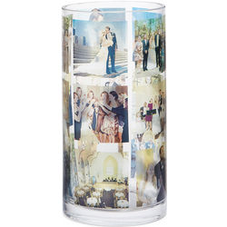 Custom Photo Collage Cylinder Vase