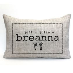 Personalized Baby Footprints Pillow