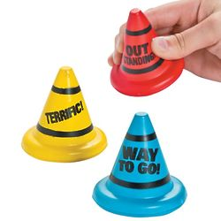12 Motivational Traffic Cone Stress Toys
