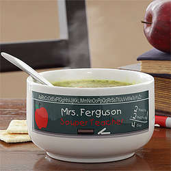 Personalized Souper Teacher Stoneware Soup Bowl